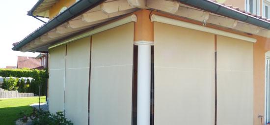 Fenstermarkise Mit Seilf Hrung Die Erhardt
